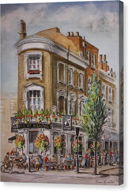 England London The Duke Of Kendal Canvas Print by Yvonne Ayoub