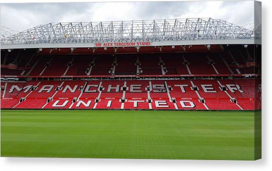 Manchester United Canvas Print - England - Sir Alex Fergusson Stand Manchester United by Jeffrey Shaw