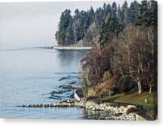 English Bay Shore Canvas Print