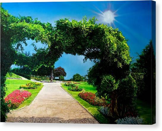 English Garden Canvas Print