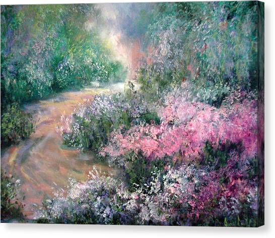English Path Canvas Print by Sally Seago