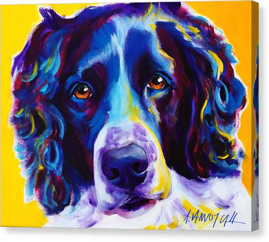 Springer Spaniel Canvas Print - English Springer Spaniel - Emma by Alicia VanNoy Call