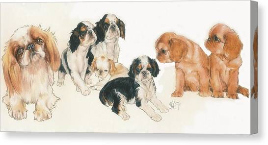 Canvas Print - English Toy Spaniel Puppies by Barbara Keith