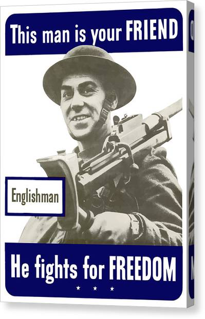 Army Canvas Print - Englishman - This Man Is Your Friend by War Is Hell Store