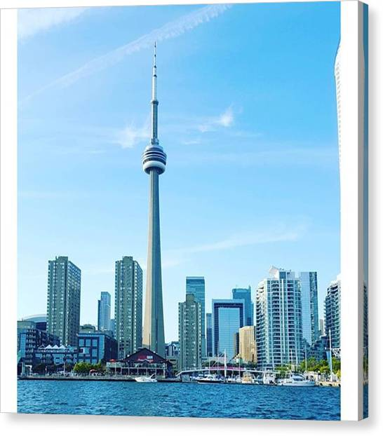 Toronto Skyline Canvas Print - Enjoy Last But Of This Good Weather by Bruh Man