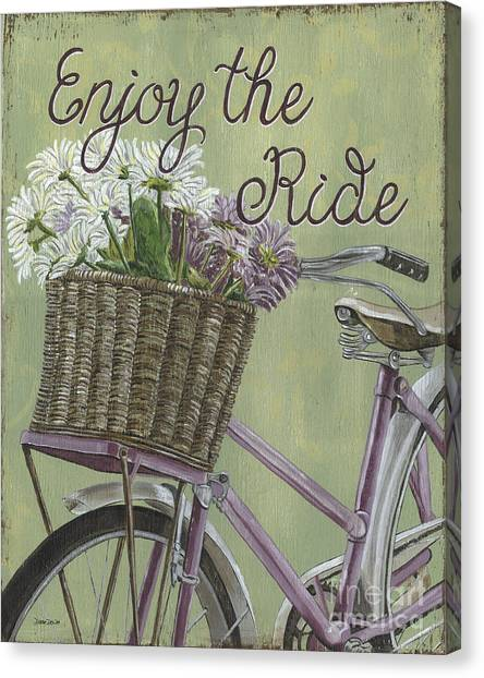 Bicycle Canvas Print - Enjoy The Ride by Debbie DeWitt