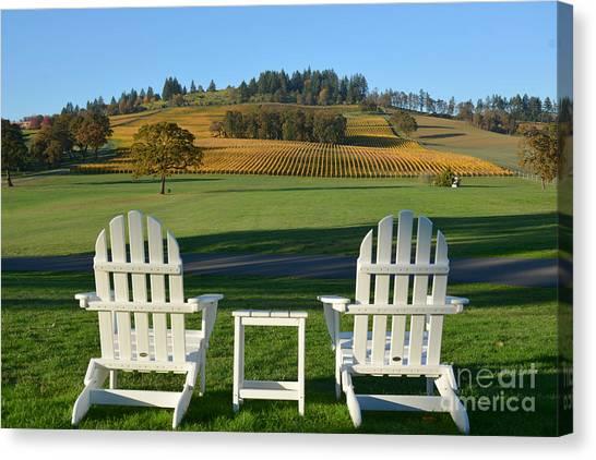 Enjoying Oregon Wine Country Canvas Print
