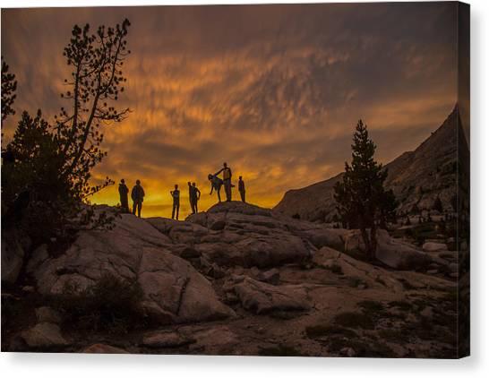 Enjoying The Sunset Canvas Print