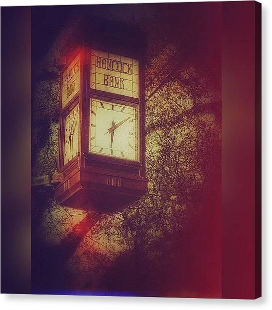 Mississippi Canvas Print - Vintage Clock by Joan McCool