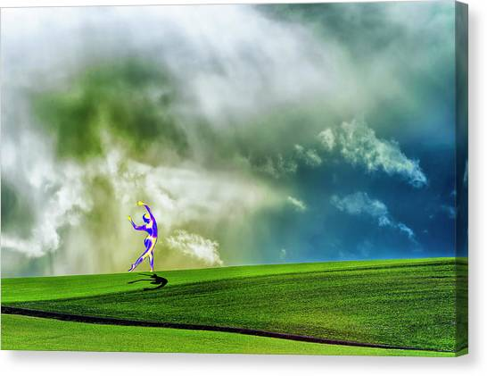 Enlighten Pose Canvas Print by Dee Browning