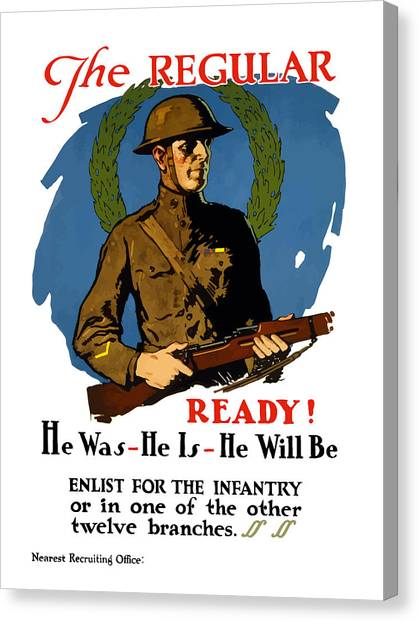 Soldiers Canvas Print - The Regular - Enlist For The Infantry by War Is Hell Store
