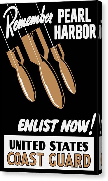 Coast Guard Canvas Print - Enlist Now - United States Coast Guard by War Is Hell Store