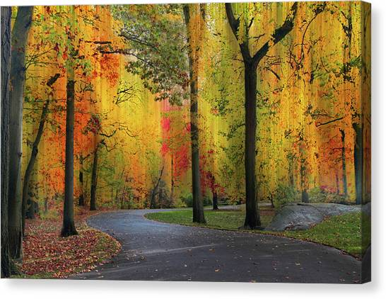 Canvas Print featuring the photograph  Ensconced In Autumn by Jessica Jenney