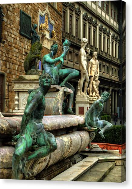 The Uffizi Gallery Canvas Print - Ensemble by Darin Williams