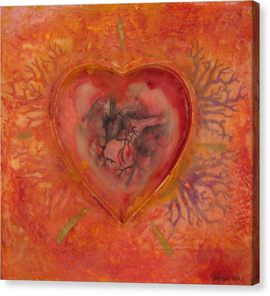Enshrine - Outward Heart Canvas Print