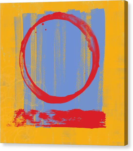 Abstract Expressionism Canvas Print - Enso by Julie Niemela