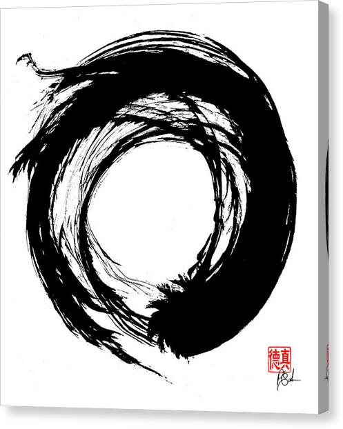 Enso / Zen Circle 15 Canvas Print