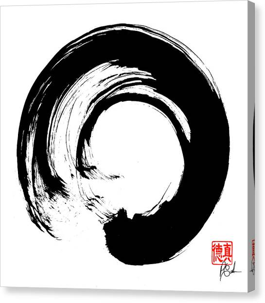 Enso / Zen Circle 16 Canvas Print