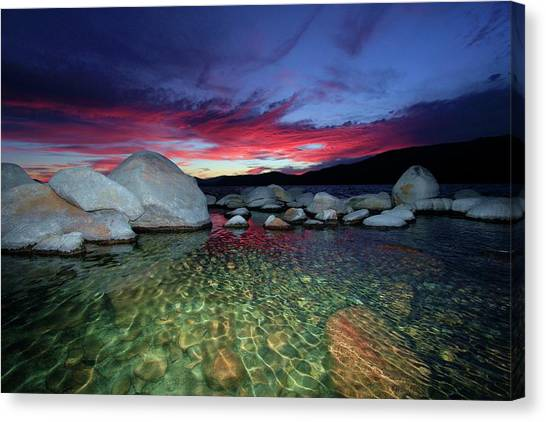 Canvas Print featuring the photograph Enter A Tahoe Dream by Sean Sarsfield