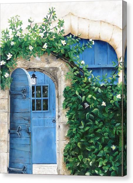 Enter My Garden Canvas Print by Denise H Cooperman