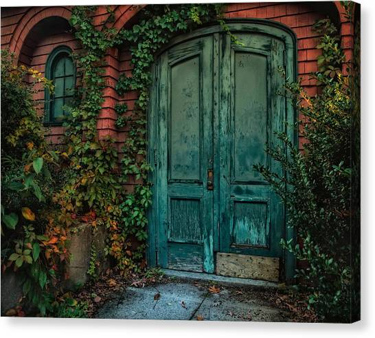 Old Door Canvas Print - Enter October by Robin-Lee Vieira
