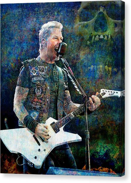 Jeff Hanneman Canvas Print - Enter Sandman, Metallica by Mal Bray