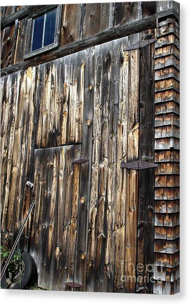 Enter The Barn Canvas Print