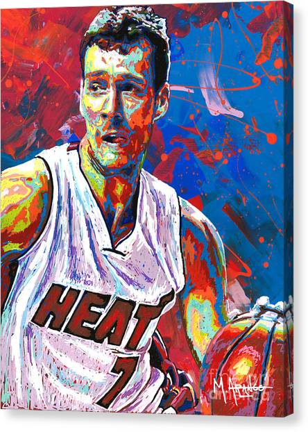 Phoenix Suns Canvas Print - Enter The Dragon by Maria Arango