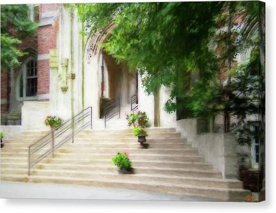 Boston College Canvas Print - Entering Emmanuel by Terry Davis