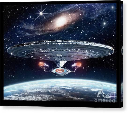 Starship Enterprise Canvas Print - Enterprise by Murphy Elliott