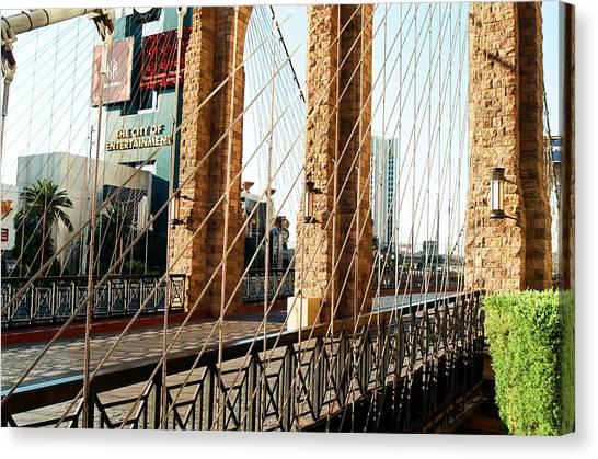 Entertainment City Bridge Canvas Print by Jonathan Michael Bowman
