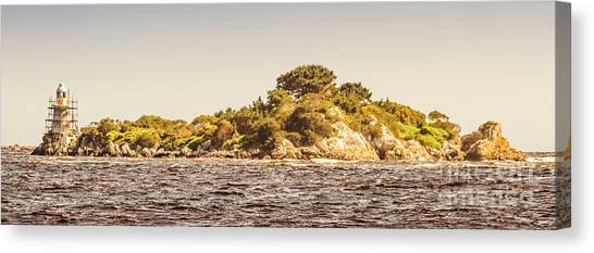 Repairs Canvas Print - Entrance Island Lighthouse, Hells Gates by Jorgo Photography - Wall Art Gallery