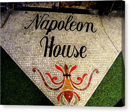 Entrance Mosaic Napoleon House Canvas Print by Ted Hebbler