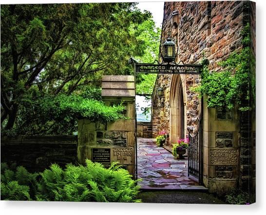 Entrance To Garrett Chapel Canvas Print