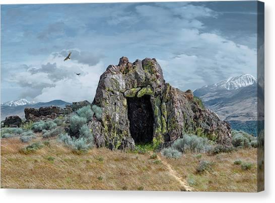 Fantasy Cave Canvas Print - Entrance To Khazad Dum  by Rick Mosher