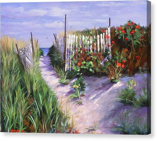 Seagrass Canvas Print - Entrance To Nantasket by Laura Lee Zanghetti