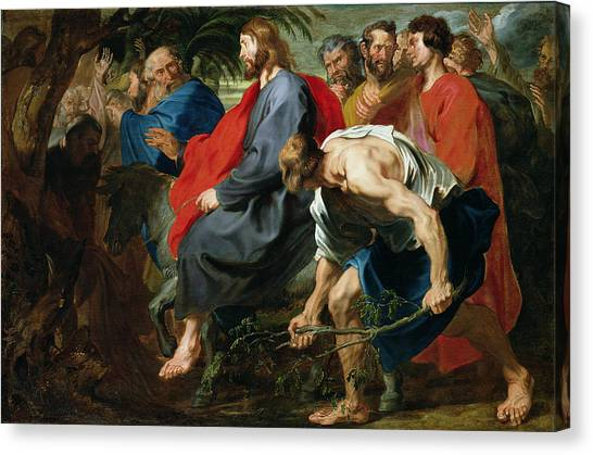 Passover Canvas Print - Entry Of Christ Into Jerusalem by Sir Anthony van Dyke