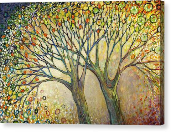 Spring Trees Canvas Print - Entwined No 2 by Jennifer Lommers