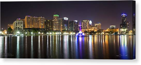 Eola Lake Pano Canvas Print