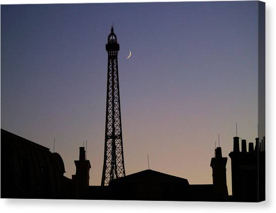 Epcot France Night Canvas Print