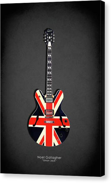 Oasis Canvas Print - Epiphone Union Jack by Mark Rogan