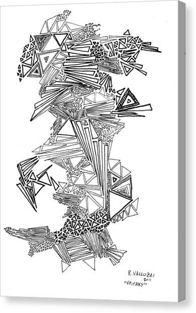 Epitaxy Ink Drawing By Regina Valluzzi Canvas Print