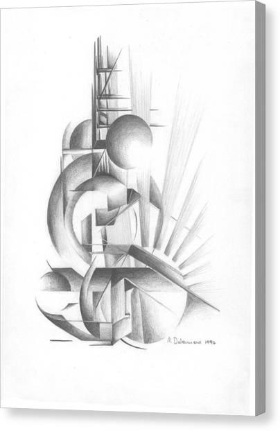 Equilibre Canvas Print by Muriel Dolemieux