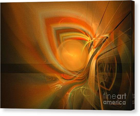 Canvas Print featuring the digital art Equilibrium - Abstract Art by Sipo Liimatainen