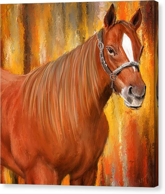 Horseracing Canvas Print - Equine Prestige - Horse Paintings by Lourry Legarde