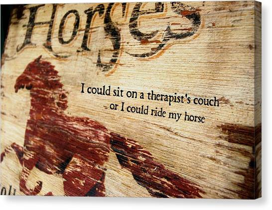 Equine Therapy Quote Canvas Print