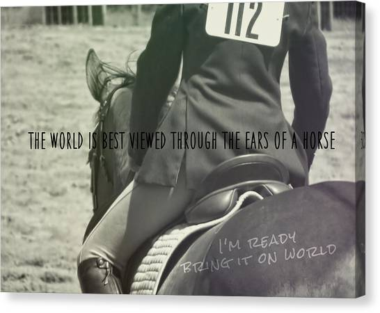 Equitation Quote Canvas Print by JAMART Photography