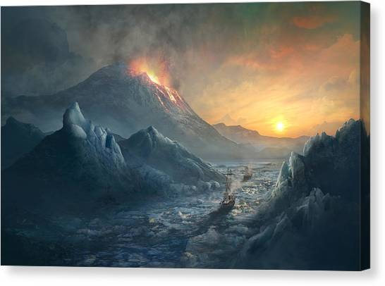 Boston Canvas Print - Erebus Mount by Guillem H Pongiluppi