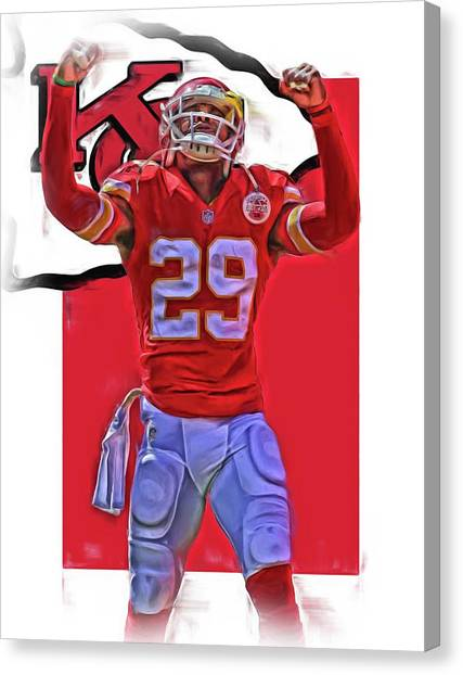 Kansas City Chiefs Canvas Print - Eric Berry Kansas City Chiefs Oil Art by Joe Hamilton