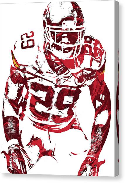 Kansas City Chiefs Canvas Print - Eric Berry Kansas City Chiefs Pixel Art 2 by Joe Hamilton